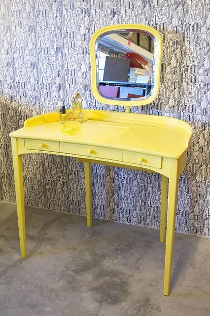 Yellow Dressing Table by Like That One, via Flickr