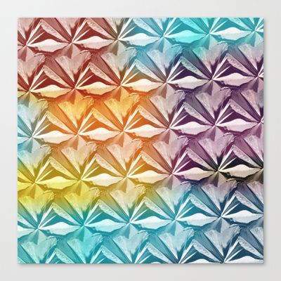 PYRAMID PATTERN Stretched Canvas by hardkitty - $85.00