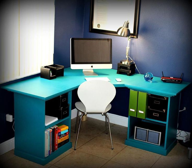 Build a Desk with These Free Plans: Office Corner Desk Plan from Ana White