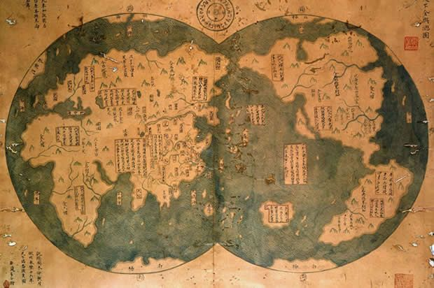 Zheng He's 1418 map of the world