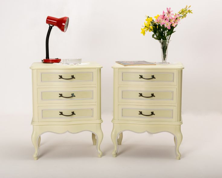 Bedside Table Pair French Provincial Style