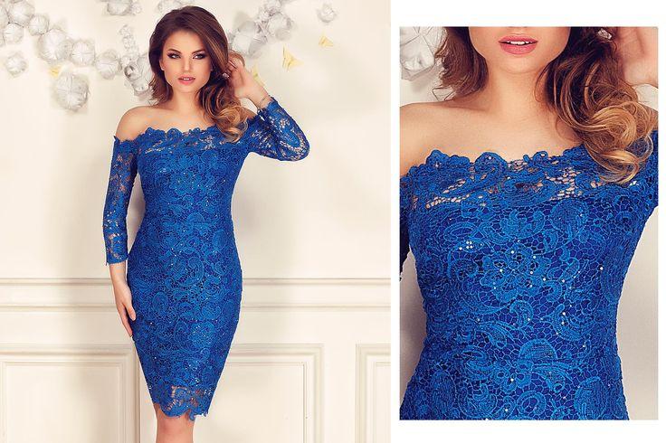 Lace evening dress with sequins embroidery in royal blue shade: https://missgrey.org/en/dresses/lace-evening-dress-with-sequins-embroidery-in-royal-blue-shades-zaira/457?utm_campaign=decembrie&utm_medium=rochie_zaira_albastra&utm_source=pinterest_produs
