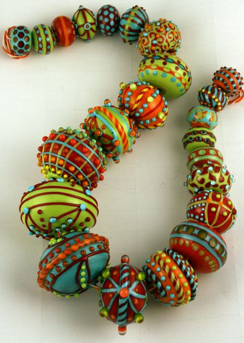 Jari Sheese's hollow beads. Always stunning.