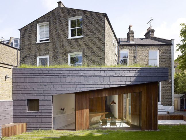 Extension With Differnt Cladding Hairy House In