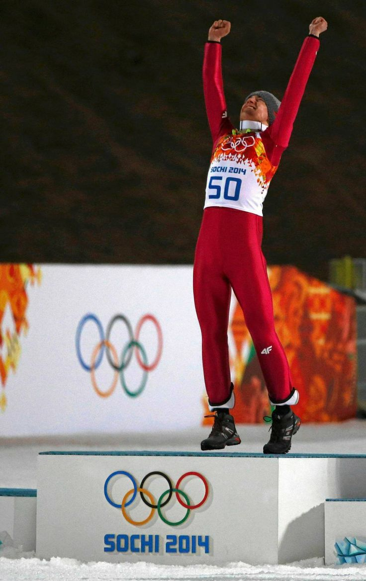 Kamil Stoch is a Polish skii jumper who won two gold medals in the winter olympics in Sochi.
