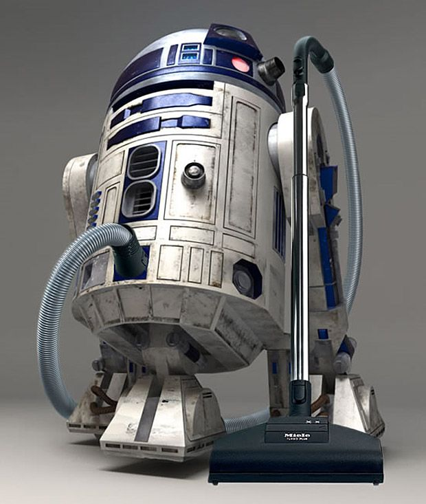 This is how a true geek vaccums! - R2-D2 Vacuum Cleaner