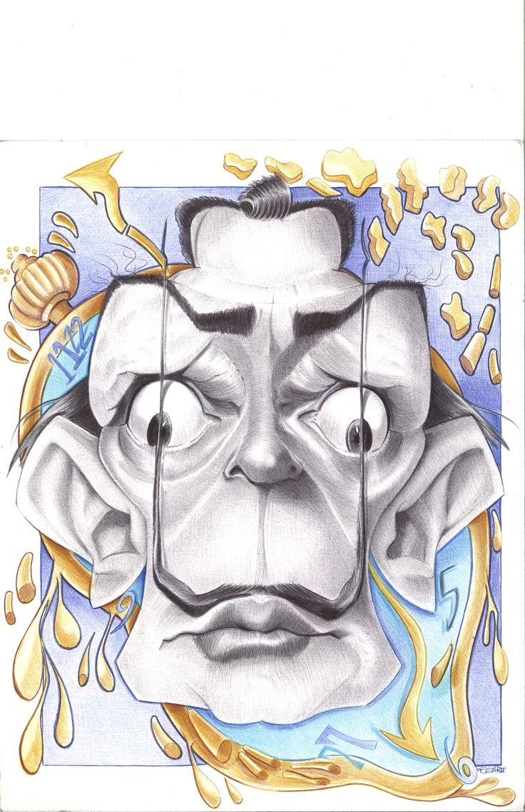 Salvador Dali Caricature Ballpoint Pen