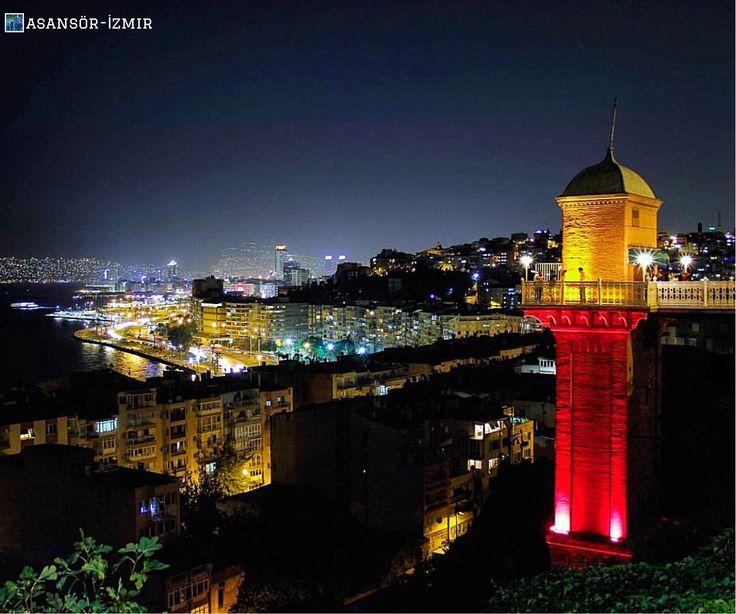 🌌 若到土耳其西部最大城伊茲密爾,可以登上「電梯」,在此喝杯咖啡欣賞市區與海景。©mcbilal83