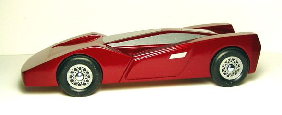 Arrow GT Pinewood Derby Car Kit - Completed