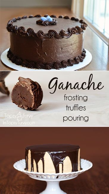Ganache – 3 uses – frosting, truffles & pouring - how to make it and tips for using it AshleeMarie.com