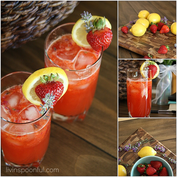 Lavender Strawberry Lemonade...Perfect for a hot summer day!Summer Day