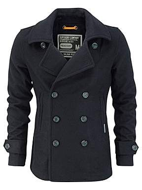 Something for winter. Superdry Commodity slim pea coat http://ow.ly/pNE2i
