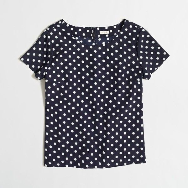 J.Crew Factory printed T-shirt ($45) ❤ liked on Polyvore featuring tops, t-shirts, j.crew, j crew top, j crew t shirts y j crew tee