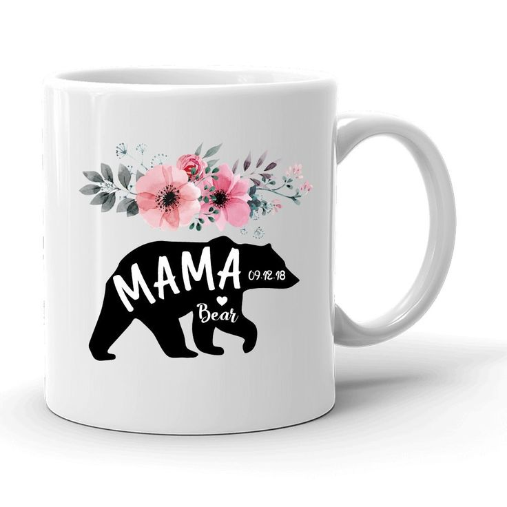 Amazon.com : Mama Bear Coffee Mug, Personalized Mother's Day Mug, Flower Design Est Year Mom to Be Gift, World Greatest Mom Gift, Gift For Mummy, Bridal Shower gift, Thank you Gift From Daughter SON, Papa Bear : Sports & Outdoors
