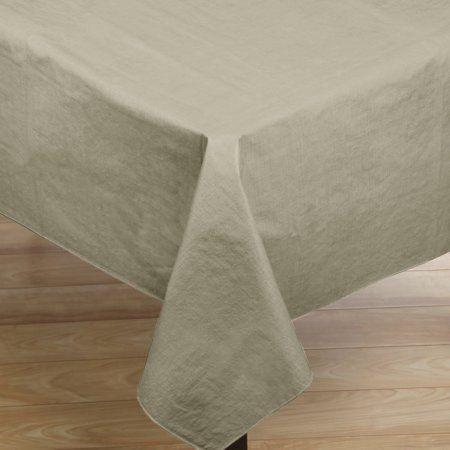 "Premium Quality Vinyl Flannel Back Oblong Tablecloth 52"" x 90"" Assorted Colors"