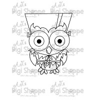 $3.00 Frankenstein Owl Digital Stamp from A.J.'s Digi Shoppe™