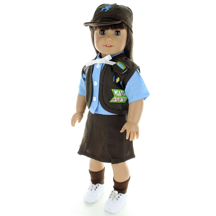 Brownies Girl Scout Uniform Outfit Fits 18 inch Dolls by PinkButterflyCo on Etsy https://www.etsy.com/listing/518124273/brownies-girl-scout-uniform-outfit-fits