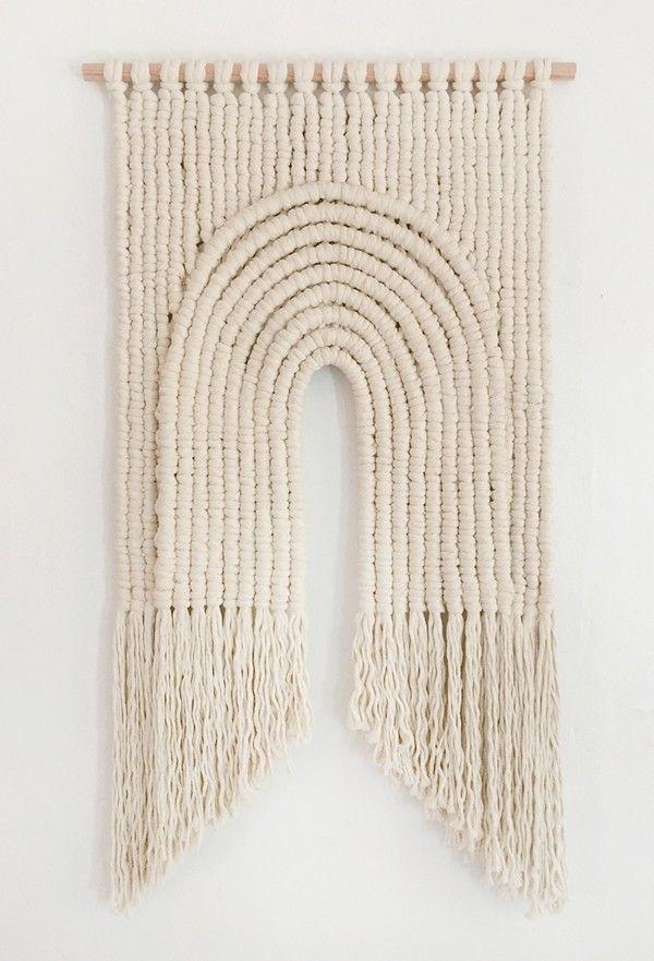 Macrame by Sally England 'Sacred Arch'