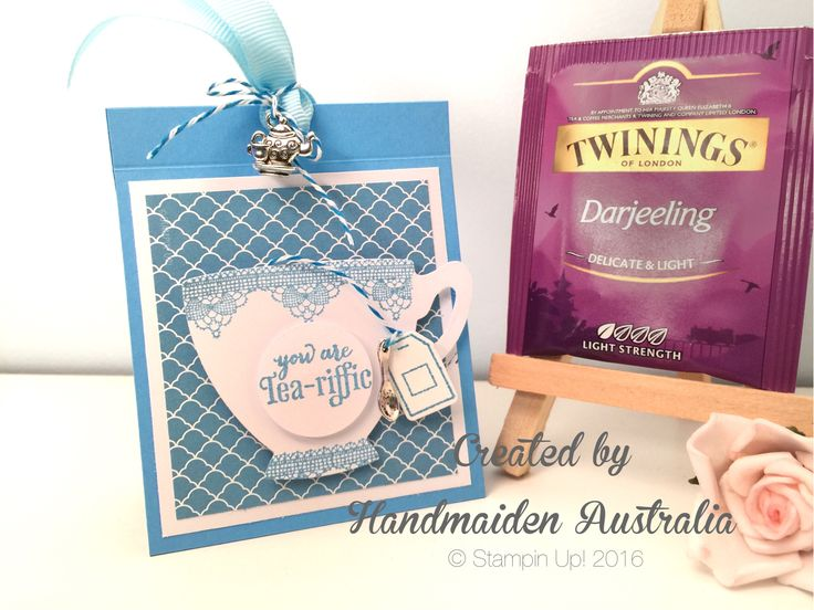 Tea Favour/Place Card  Created by Handmaiden Australia  A Nice Cuppa from Stampin Up!