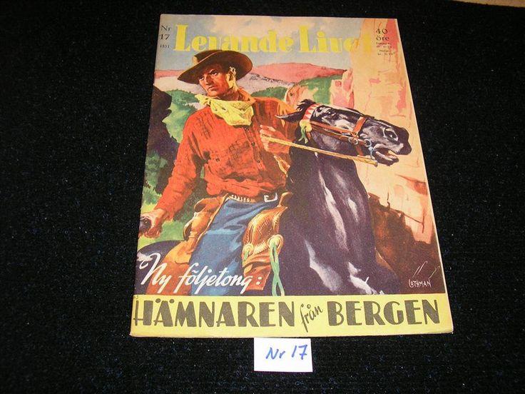 Levande Livet nr 17 år 1951. Toppex Framsida av Allan Löthman