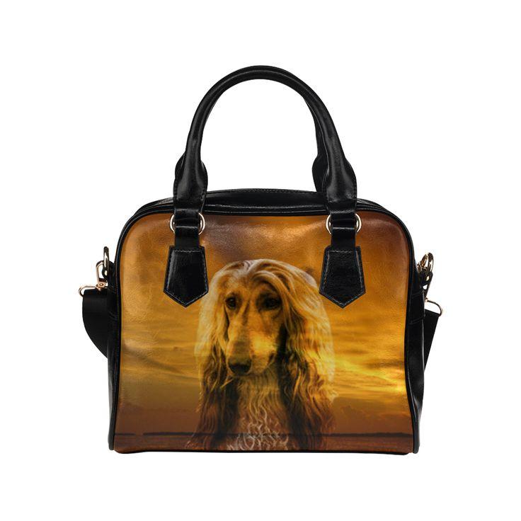 Dog Afghan Hound Shoulder Handbag. FREE Shipping. #artsadd #handbags #dogs