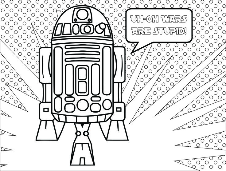 star wars fall of the resistance coloriage r2d2 adult colouring pagesanti