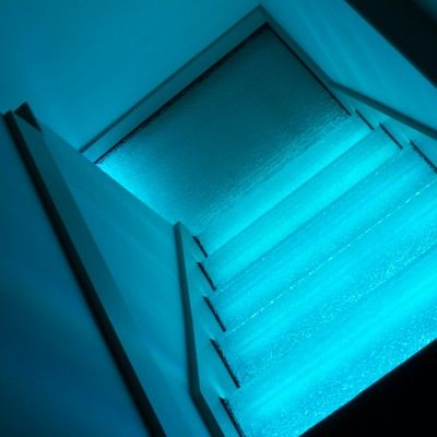 Light Blue LED Lighting Package in Glass Stairs. & 8 best LED Lighting Packages images on Pinterest | We have Beams ... azcodes.com