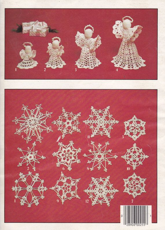 Christmas Thread Crochet Pattern  Crocheted by AuctionPost on Etsy, $6.50