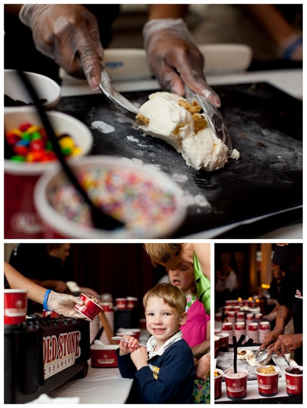 Cold Stone wedding ice cream bar (ask your local store if they do catering).  Wedding??? Whatever!  I'm thinking 40th bday party - just sayin - now who do we know that's turning 40 this year....hmmmm