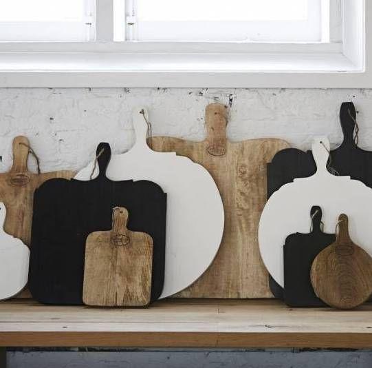 Cutting Board Black White Natural