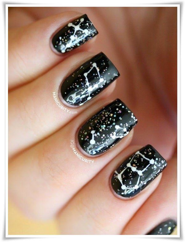54 best black and white nail art images on pinterest nail art black and white nails prinsesfo Choice Image