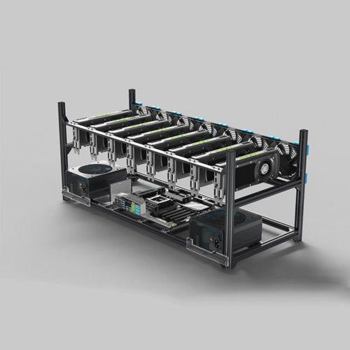 Veddha 8/6 GPU Mining Rig Aluminum Case Stackable Open Air Frame ETH