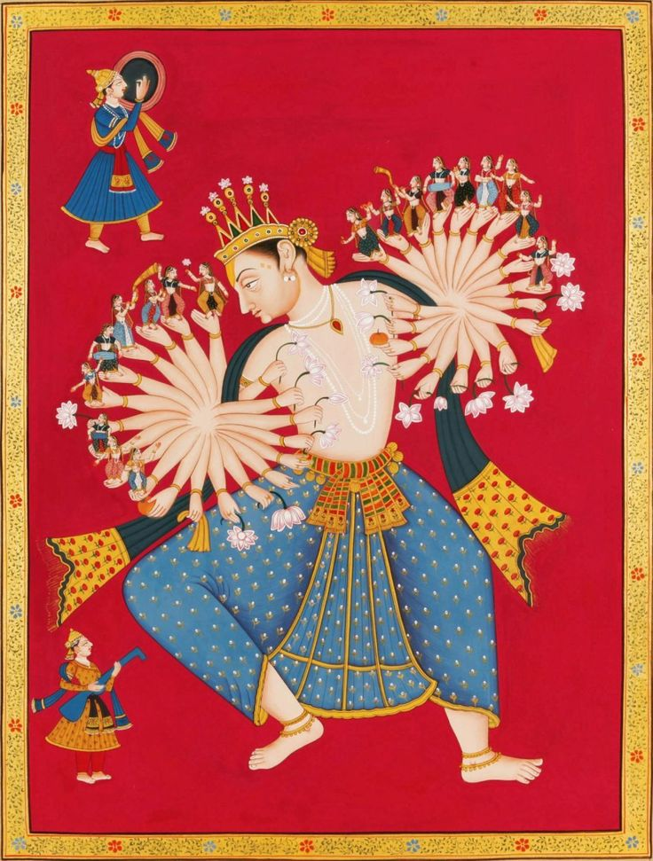 """hinducosmos:  """"Ecstatic Dance of Indra  The birth of Tirthankara is one of the most auspicious events. It is celebrated by humans as well as by divine beings (Devas). Indra (King of Devas) is in ecstasy, and dancing with his multiple hands celebrating..."""