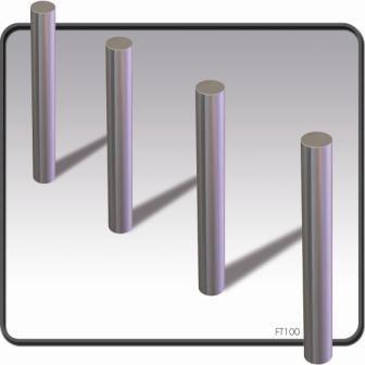Flat Top Stainless Steel Bollards