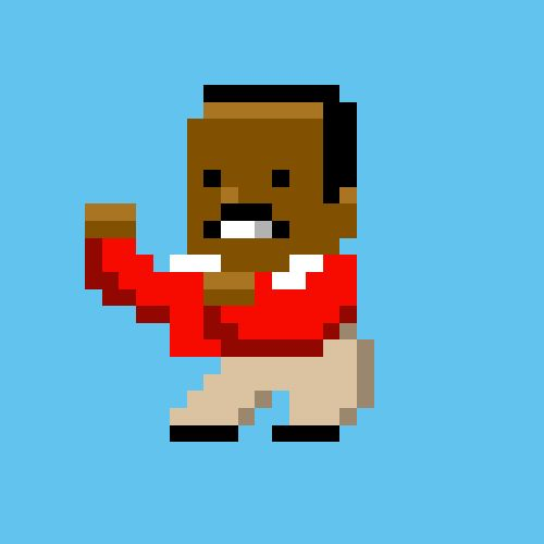 8 Bit Carlton doing his dance from The Fresh Prince of Bel Air.