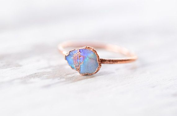Hey, I found this really awesome Etsy listing at https://www.etsy.com/listing/288055355/raw-opal-ring-opal-ring-blue-opal-ring
