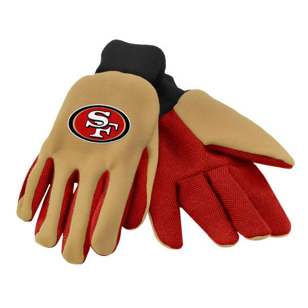 San Francisco 49ers Colored Palm Utility Gloves - $6.99
