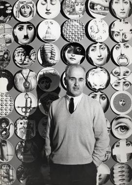 I LOVE: Piero Fornasetti, Milanese artist and designer.  Created 350 different plates based on the face of Italian opera singer Lina Cavalieri.
