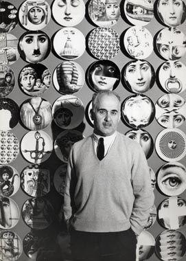 I LOVE: Piero Fornasetti, Milanese artist and designer.  Created 350 different plates based on the face of Italian opera singer Lina Cavalieri.
