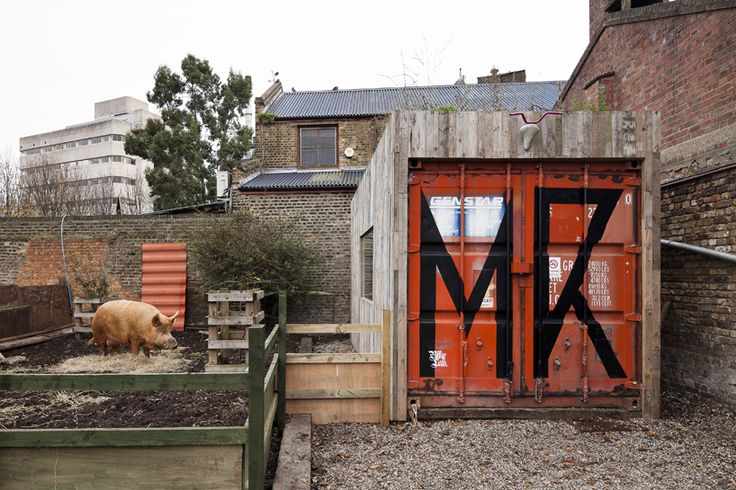 Shipping container office, great exterior presence..