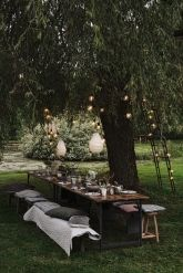 for a nice meal together with good friends in the garden and danish design