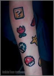 22 Super Mario Tattoos - The Body is a Canvas |Mario Star Tattoo