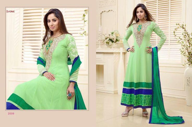 Sangeeta Ghosh Green Anarkali SOLD