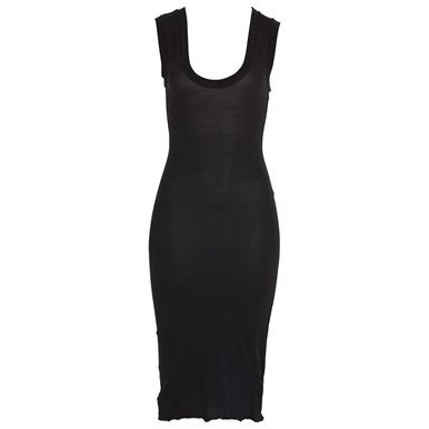 Thank goodness for Metalicus basics. Stretchy tank Dress. 66% polyamide, 34% cotton.
