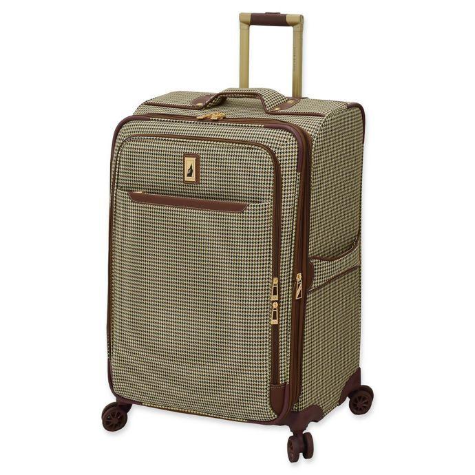 London Fog Cambridge Ii Spinner Checked Luggage Bed Bath