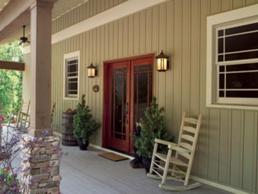 Liberty home solutions board and batten vinyl siding for Vertical siding options