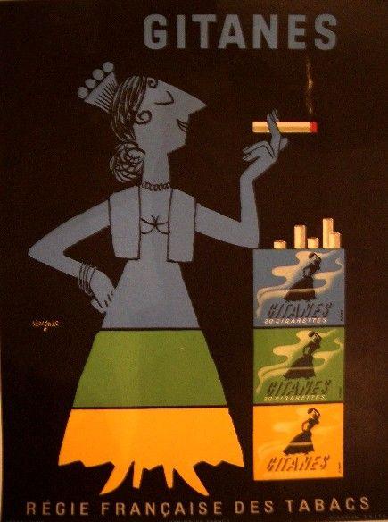 Tal como os Gauloises, os Gitanes são os piores cigarros que alguém possa fumar. Sabor horrível e um cheiro insuportável. Mas seus anúncios sempre foram lindos!