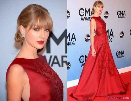 nice Taylor Swift Kırmızı Halı Kıyafetleri 2015