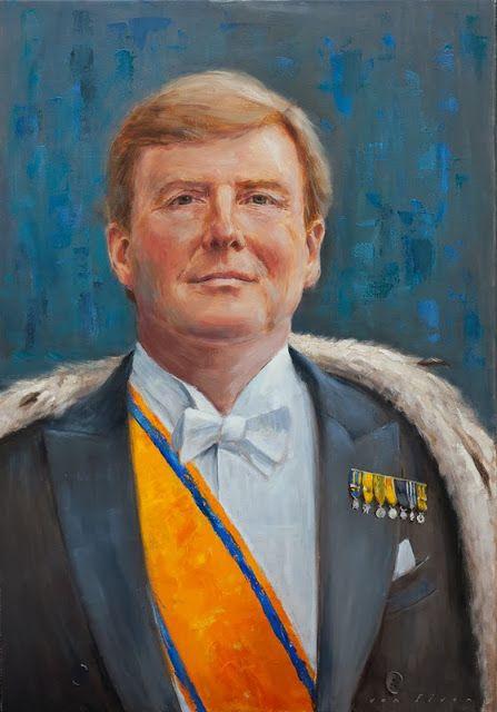 Staatsieportret Willem Alexander oil on linen, 70x100cm erikvanelven.blogspot.com
