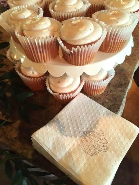 Sweet Cupcake Wedding Reception Selfish Necessities Client Party Featuring Cocktail Napkins